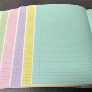 Coloured Paper Exercise Books 64 page